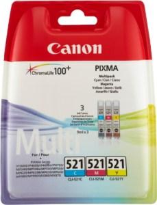 Canon CLI-521 C/M/Y Tintenpatronen (3-er Pack: 9ml) cyan/magenta/gelb