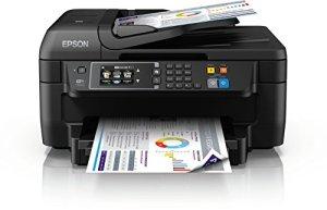 Epson WorkForce WF-2760DWF 4-in-1 Multifunktionsdrucker (Drucken, scannen, kopieren, faxen, Duplex, WiFi, Dokumenteneinzug) schwarz