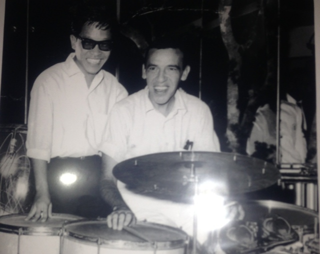Throwback in Singapore. Legendary drummer Louis Soliano with Buddy Rich, back in the day.