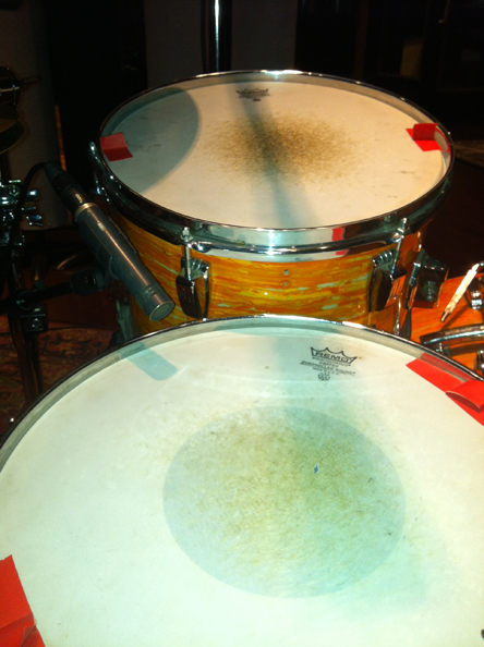 2. Snare mike close-up.