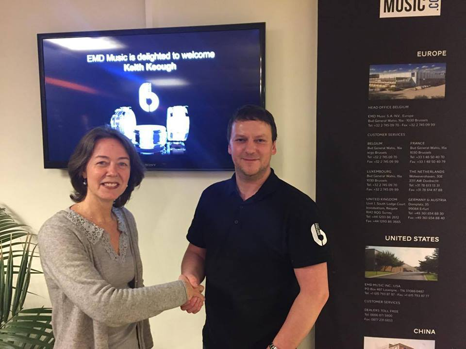 EMD Music CEO Giovanna Baldocci with British Drum Co. Managing Director Keith Keough.