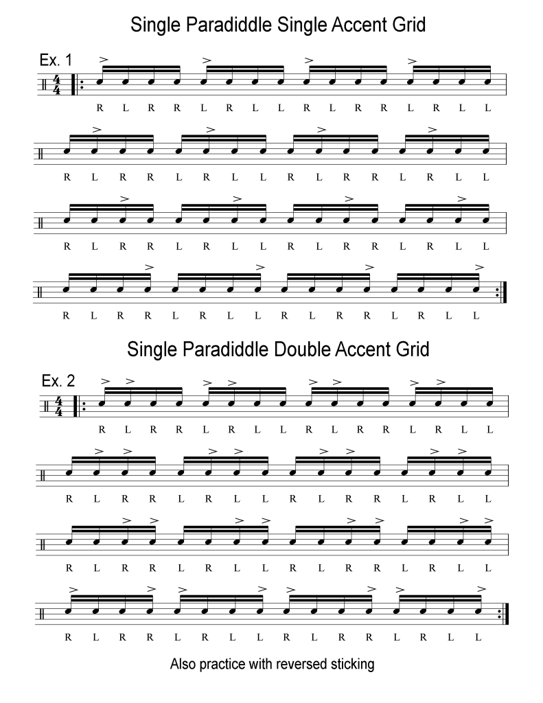 single-paradiddle-accent-grid-notation-pt1