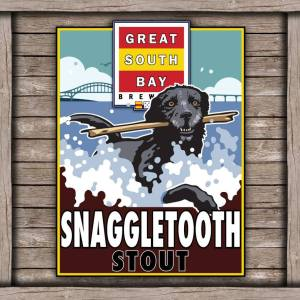 Snaggletooth Stout label