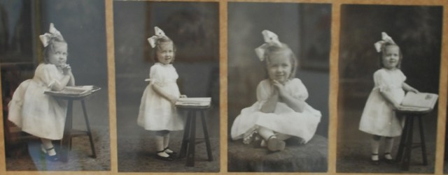 Not me. My grandmother. But also, a girl.