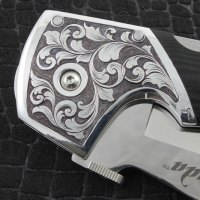 Hand Engraved Knife / Deep Relief Style