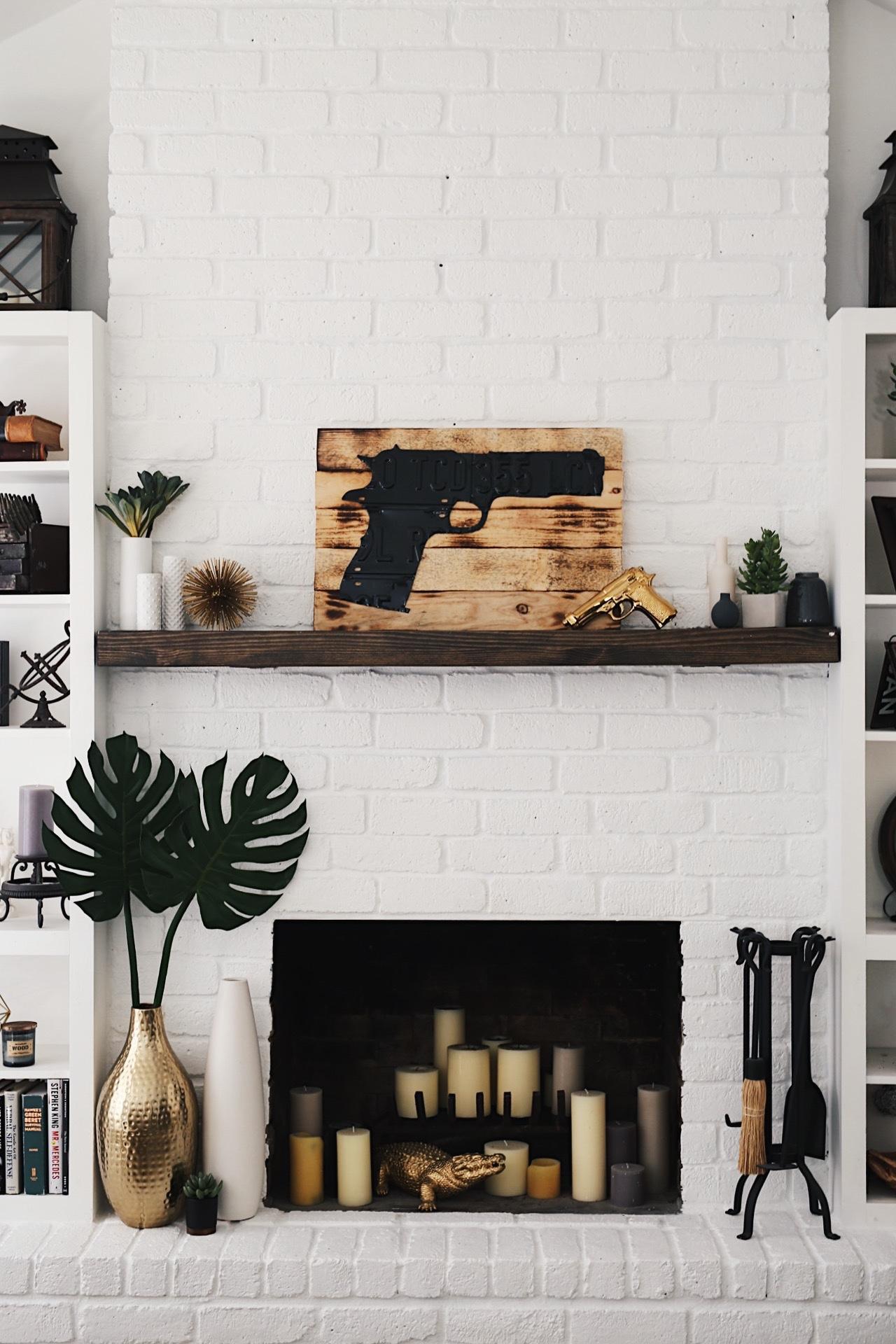 Fullsize Of White Brick Fireplace