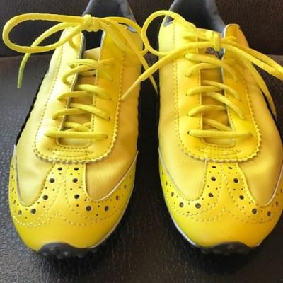 67% off Puma Shoes - 💥SALE💥 Puma Yellow Grey Patent Sport ...