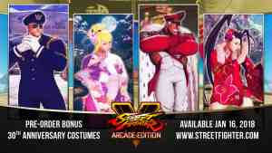 30th Anniversary Bonus Costumes with purchase of Arcade Edition.