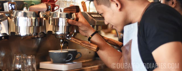 Getting caffeinated at Stomping Grounds Specialty Coffee Hub, Jumeirah 1