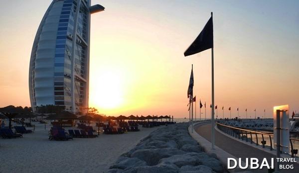 jumeirah beach hotel sunset