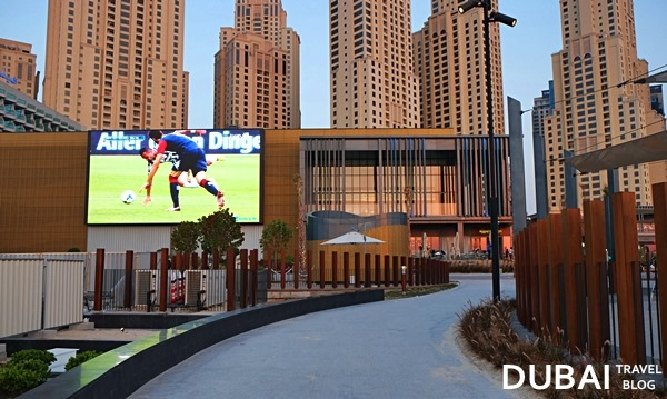 jumeirah beach tv screen