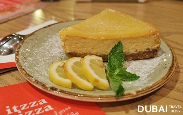 lemon baked cheesecake dubai
