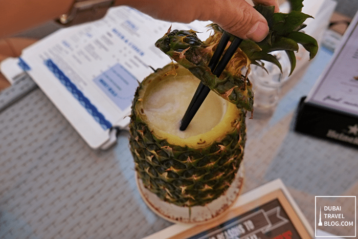 pina colada wavebreakder beach bar