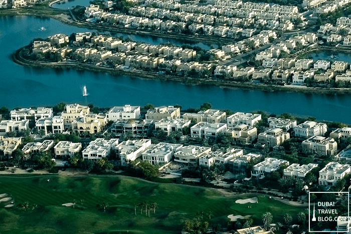 dubai aerial view communities