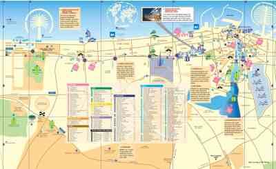 Dubaj mapa metra a mapa města