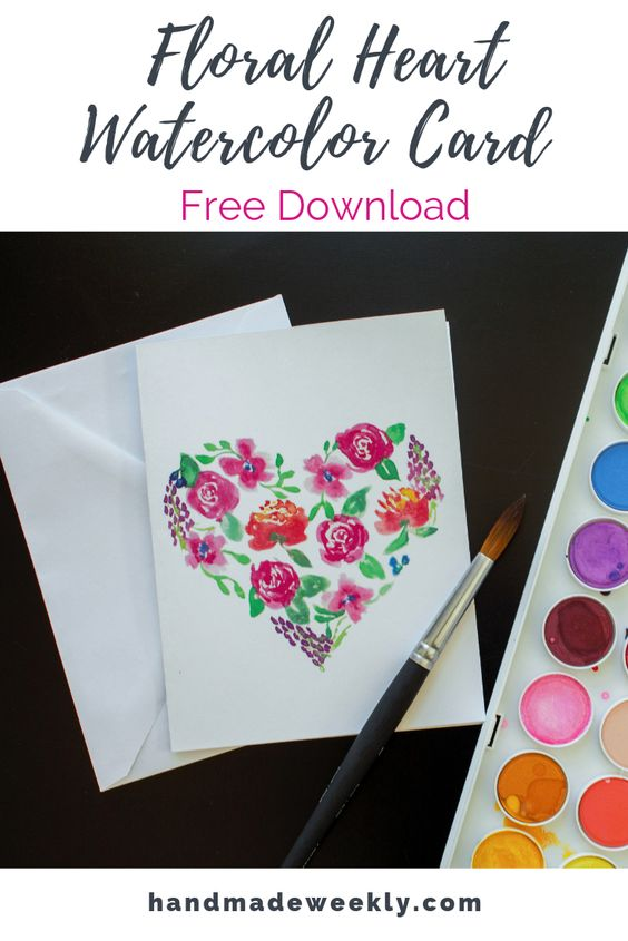 DIY watercolor card