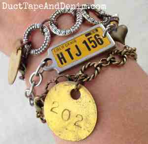 Arm Party with California Road Trip and other Vintage bracelets | DuctTapeAndDenim.com