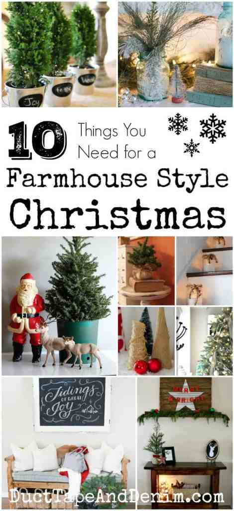 10 things you need for a farmhouse style christmas diy crafts and