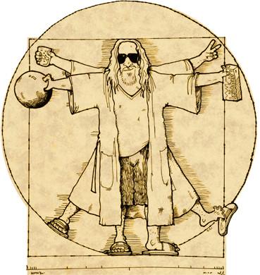 Dude Vinci illustration by Colin Cotterill (colincotterill.com)