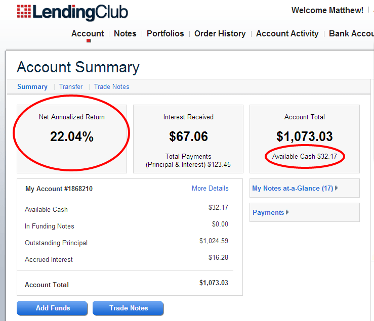 Account Summary Feb2013 - Lending Club