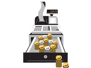Cash Register Illustration by James Olstein