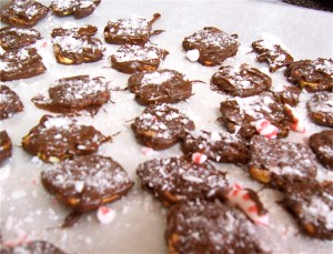 Chocolate Peppermint Pretzels