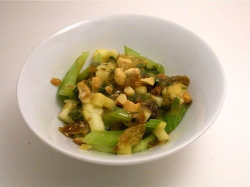 Celery, Apple, Raisin Salad-Duo Dishes