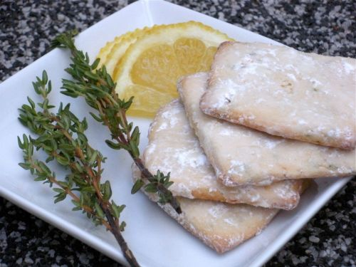 Lemon Thyme Cookies-Duo Dishes