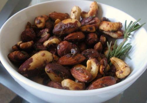 Rosemary Brown Sugar Nuts-Duo Dishes