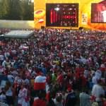 Mecz Polska – Rosja Euro2012 w Strefie Kibica w Gdańsku