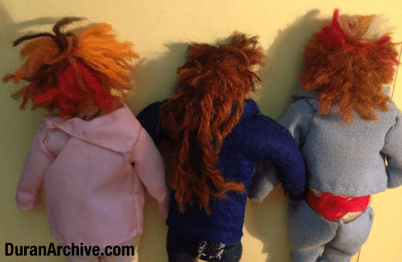 Nick, Andy + John Doll Details