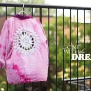 DIY Doily Embellished Shirt Tie Dye