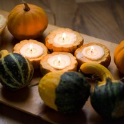 Pumpkin Candle DIY