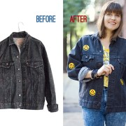 Patched Jacket Without Any Sewing
