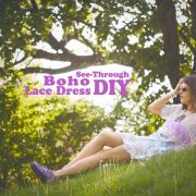 See-Through Boho Lace Dress DIY