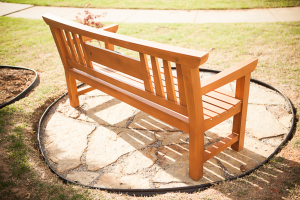 Japanese Garden Bench out of Pine