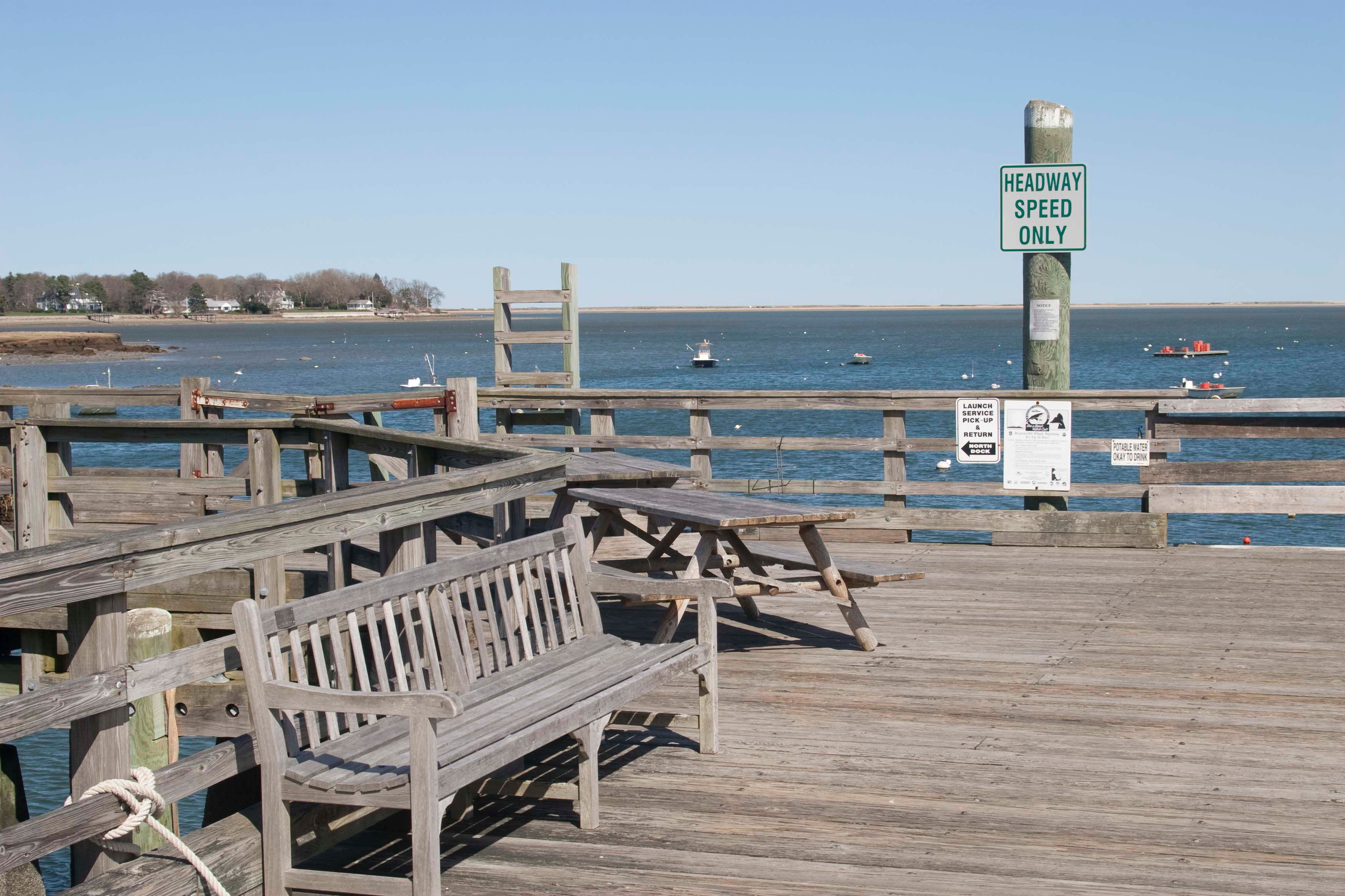 The pier at Snug Harbor in Duxbury, home of Duxbury Bookkeeping.