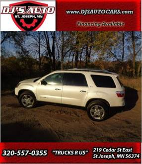 2008 GMC Acadia SLT 2 In Saint Joseph MN   DJ AUTO SALES 2008 GMC Acadia for sale at DJ AUTO SALES in Saint Joseph MN