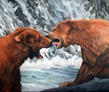 """Glenice Moore """"Battle at Cook Falls"""""""