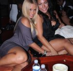 Bubbles and Amazin Amie at Club Bed in Miami