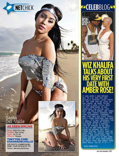 Pic of the Day: Sasha Delvalle in latest issue of Hip Hop Weekly