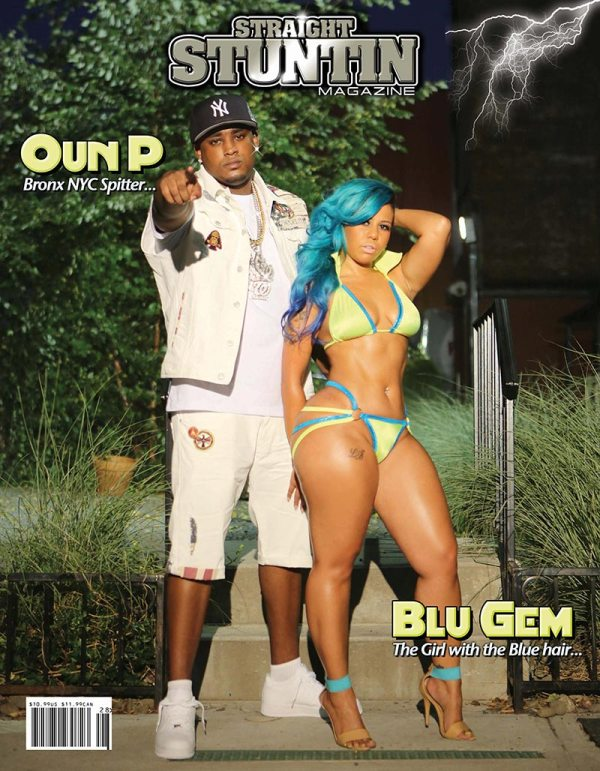 Blu Gem and Luscious Low on cover of Straight Stuntin #29