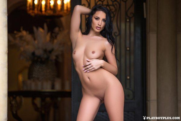Kendra Cantara in Front Door Strip - Playboy