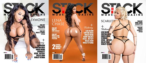 Remy Valdez on cover of Stack Models Magazine #38