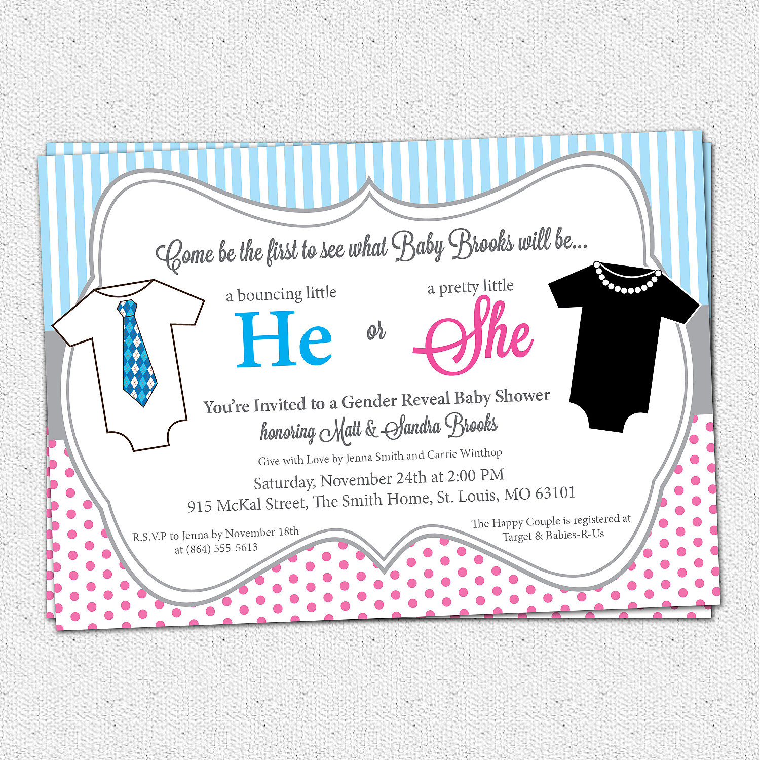 Fullsize Of Gender Reveal Invitations