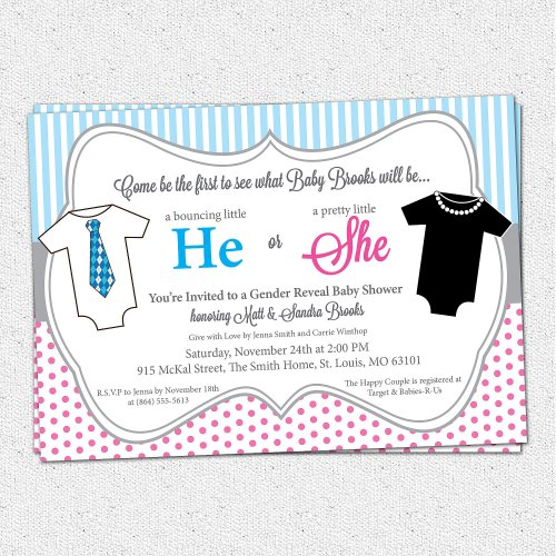 Medium Of Gender Reveal Invitations