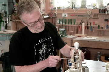 Artist David Dumbrell in his workshop - 01