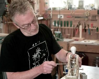 Artist David Dumbrell in his workshop - 01