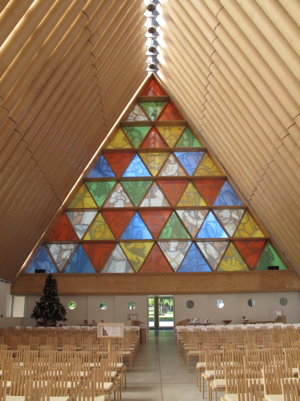 Cardboard Cathedral by Japanese architect Shigeru Ban - 04