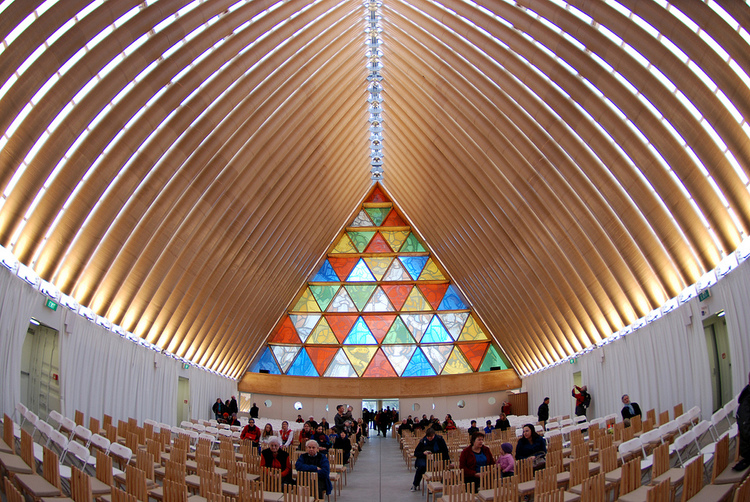 Cardboard Cathedral by Japanese architect Shigeru Ban - 06